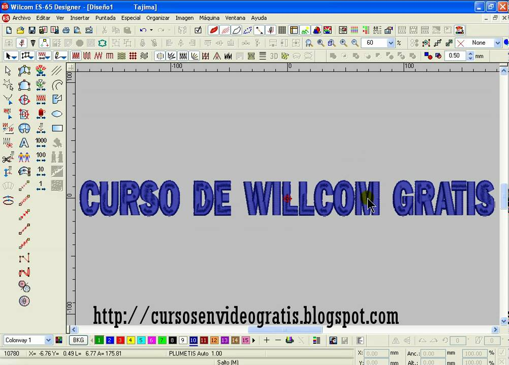 digitalizacion de letras en wilcom es - youtube
