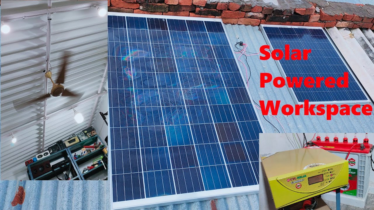 DIY Giving Solar Power to My Workshop