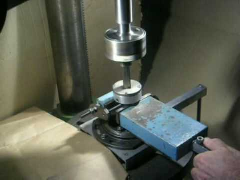 square hole drilling with the Vika attachment - YouTube