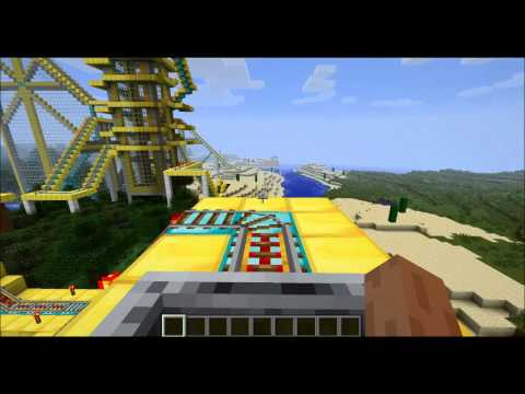 1 # minecraft американские горки-карта The Golden Coaster В HD 2013