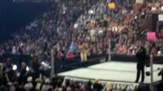 WWE Smackdown Melina doing the splits in Edmonton Alberta Canada August 11 2009