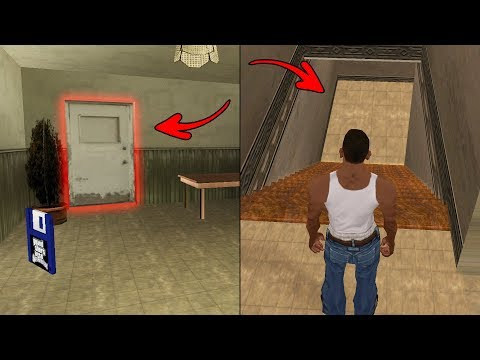 Unlocked Secret Doors In The CJ's House In GTA San Andreas! (Hidden Places)