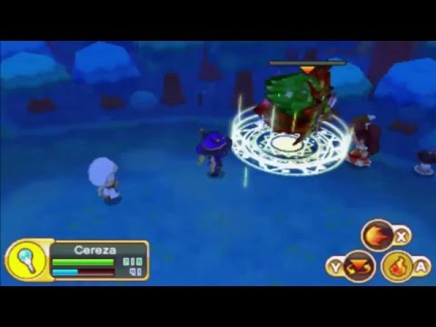 "[3DS] Fantasy Life - ""Forest Wraith"" Boss Battle - Wizard/Witch/Magician Life ☄"