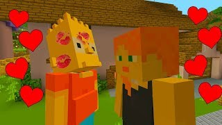 BART SIMPSON KISSES HIS GIRLFRIEND | The Simpsons | Minecraft Xbox