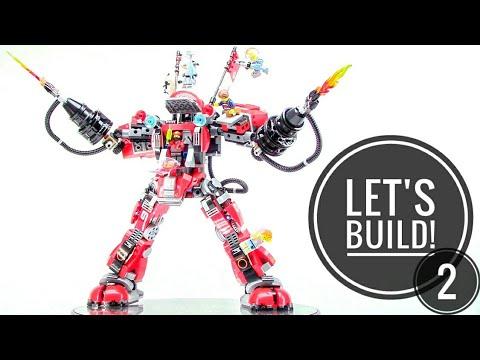 LEGO NINJAGO: Fire Mech 70615 - Let's Build part 2