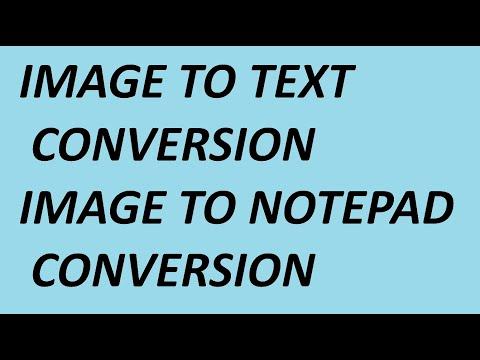 Convert IMAGE to TEXT using Microsoft Office | Doovi
