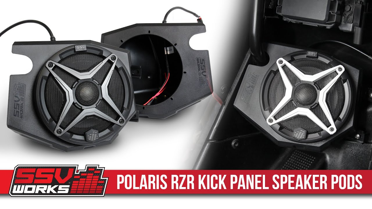 SSV Speaker Pods Front Kick Panels For 2018-2019 Polaris RZR XP Turbo Dynamix