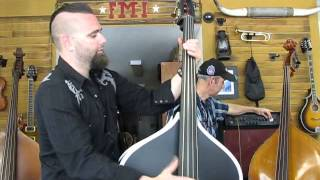 Casey Shalala New Custom Rockabilly Bass at FMI Basses