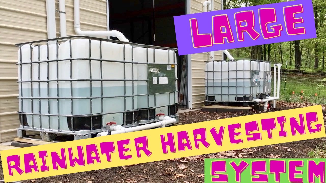Large rainwater harvesting system youtube for Pictures of rainwater harvesting system