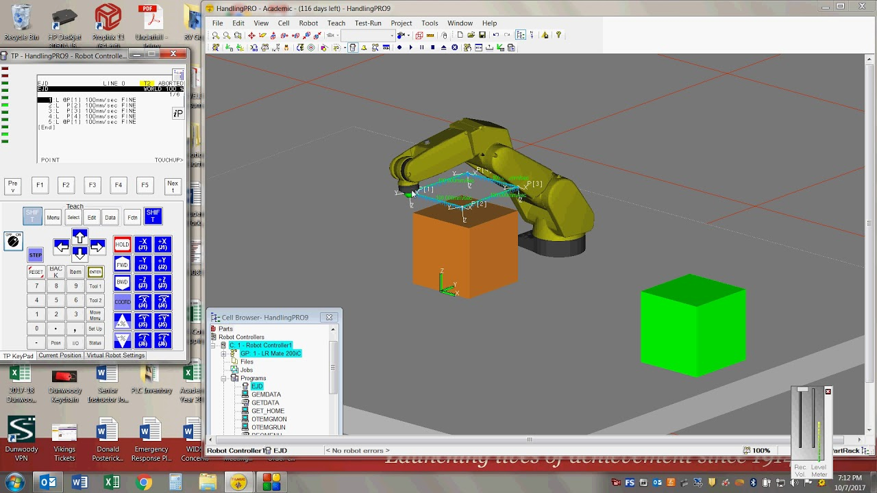 Intelligent offline 3d robot simulation with roboguide.