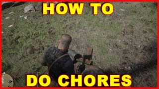 Red Dead Redemption 2: How to Do Chores Around Camp (Tap Water, Chop Wood, etc.) Video