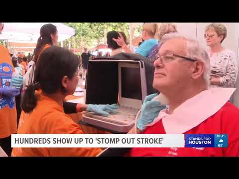Thumbnail to launch Hundreds show up to 'stomp out stroke' video
