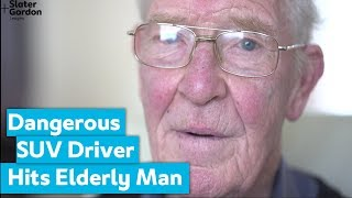 Dangerous SUV Driver Hits Elderly Man Crossing Road