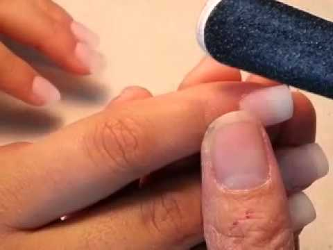 How to do a full set acrylic nails in 7 minutes. - YouTube