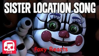foxy reacts to fnaf sister location song by jt machinima join us for a bite sfm
