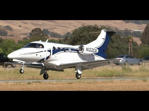 HD Embraer Phenom 100 N122CR Landing and Walk Around at South County Airport