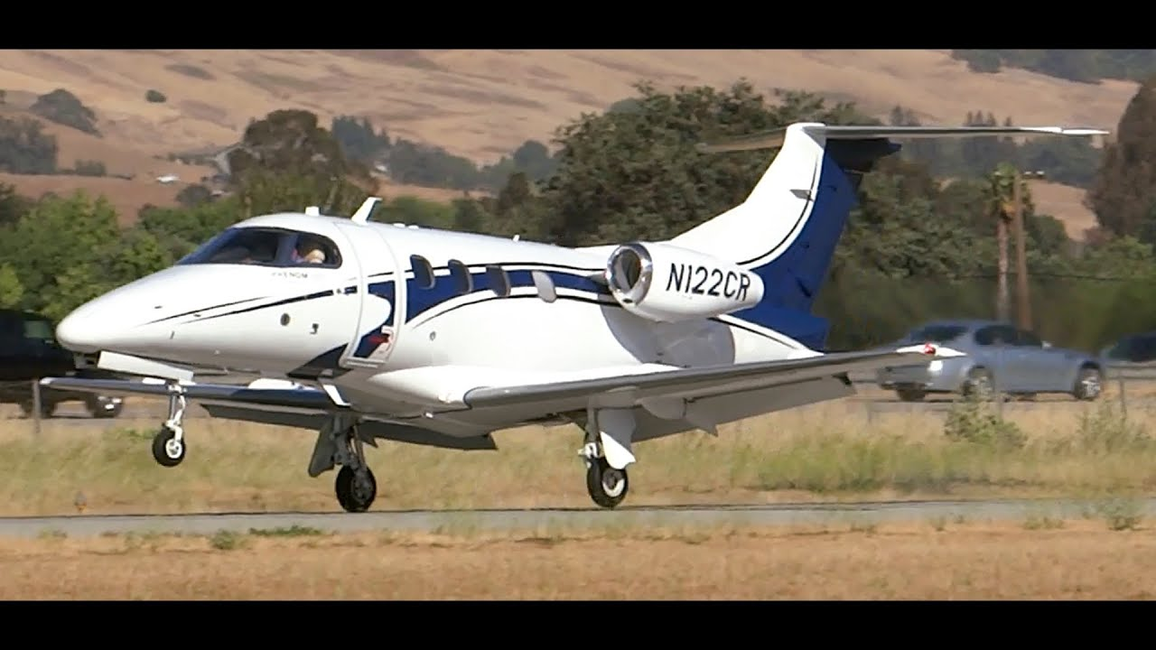 Download HD Embraer Phenom 100 N122CR Landing and Walk Around at South County Airport