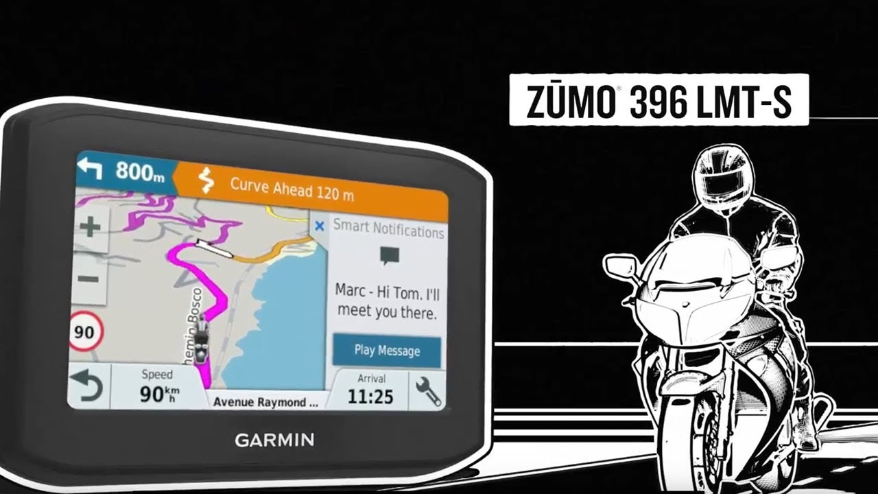 garmin zumo 396 motorrad navigationsger t youtube. Black Bedroom Furniture Sets. Home Design Ideas