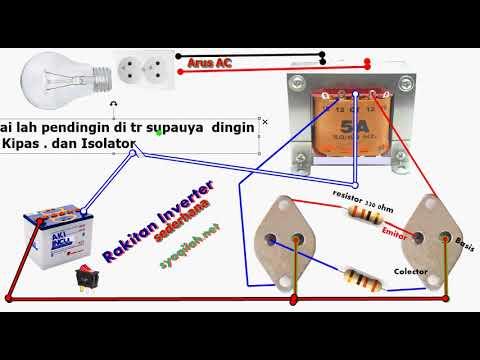Cara Membuat Rangkaian Inverter Dc 12v To Ac 220v Tut