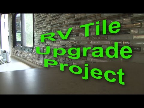 RV Kitchen Tile DIY Project