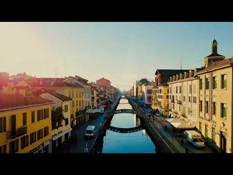 Milan Italy AERIAL Views!  Awesome Canal Pictures And Photos   MUST SEE!