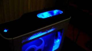 Xbox 360 JTAG console - added cold cathodes and hard drive window mod