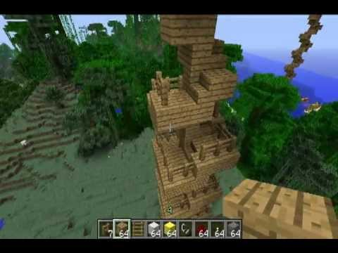 Minecraft Inventions: The Spiral Staircase Treehouse - YouTube