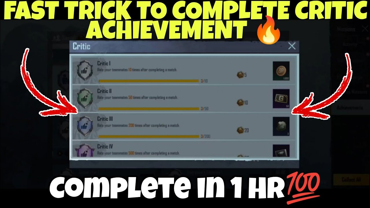 Download FAST TRICK TO COMPLETE CRITIC ACHIEVEMENT   EASY WAY TO COMPLETE CRITIC ACHIEVEMENT   CRITIC TRICK