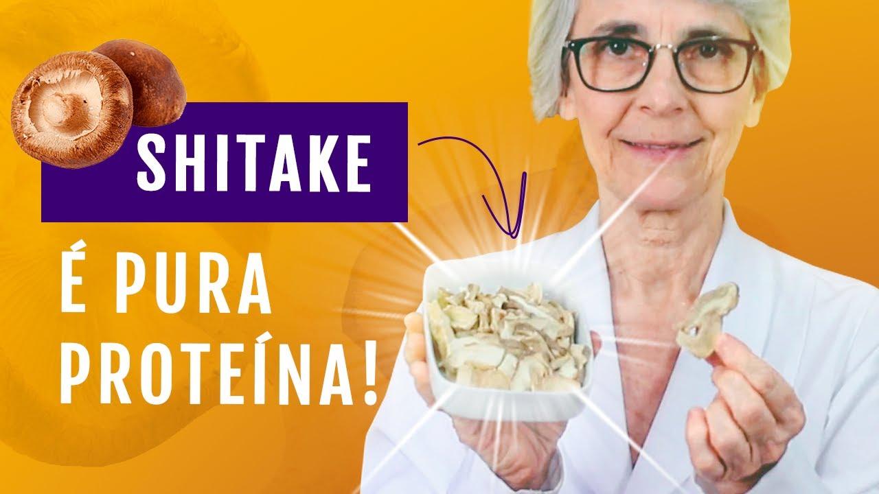 Shitake é pura proteína! Descubra as propriedades desse alimento super nutritivo.