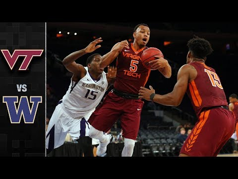 Virginia Tech vs Washington Basketball Highlights (2017)