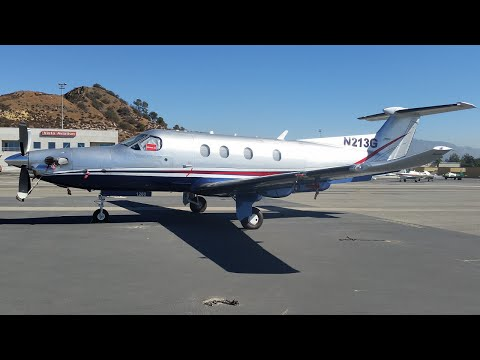 Flight on a Private Pilatus PC-12 NG (WHP-CCR)