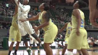 No. 21 michigan state women's basketball wins over southern, 70-55