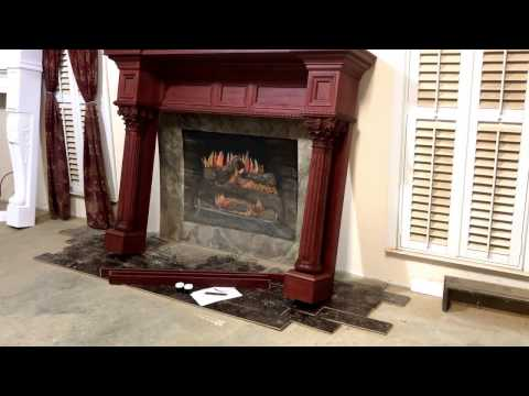 The Burlington Mantel in cherry wood with a stain match