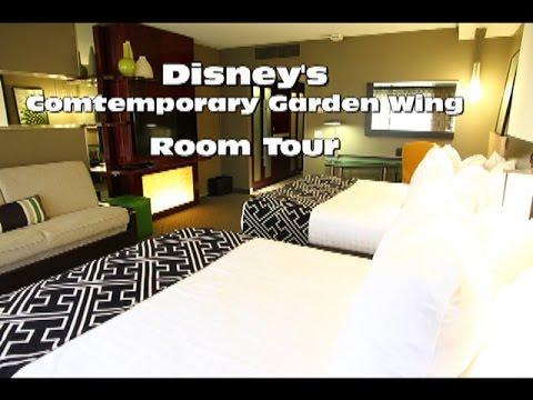 Disney 39 S Contemporary Resort Garden Wing Room Tour Youtube