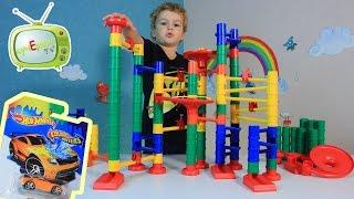 Розыгрыш машинки HOT WHEELS в выпуске с конструктором веселые горки  bauer с шариками для детей.