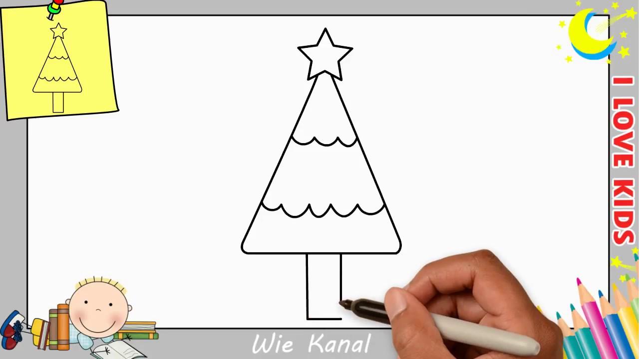 weihnachtsbaum zeichnen lernen einfach schritt f r schritt 2 weihnachten youtube. Black Bedroom Furniture Sets. Home Design Ideas