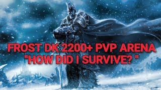 """WOW FROST DK 2200+ HERO CLEAVE VS WMPALLY """"DEFENSIVE STANCE"""" PVP ARENA LEGION 7.3.5"""