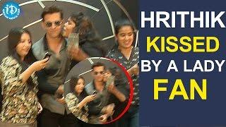 Hrithik Roshan Kissed By A Lady Fan In Hyderabad | Rado Switzerland || Rado Launch Lightness