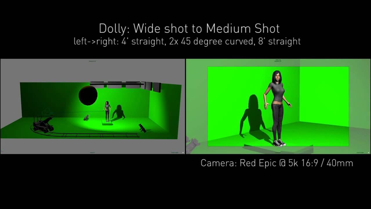 Previs: Green Screen Studio Dolly Shot Treadmill - YouTube