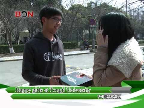 Happy girls at Tongji University - China Travel New Links - Episode 178 - BONTV China