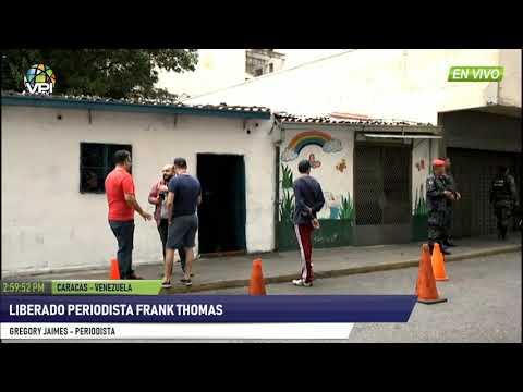 Venezuela - Liberado periodista Frank Thomas  - VPItv