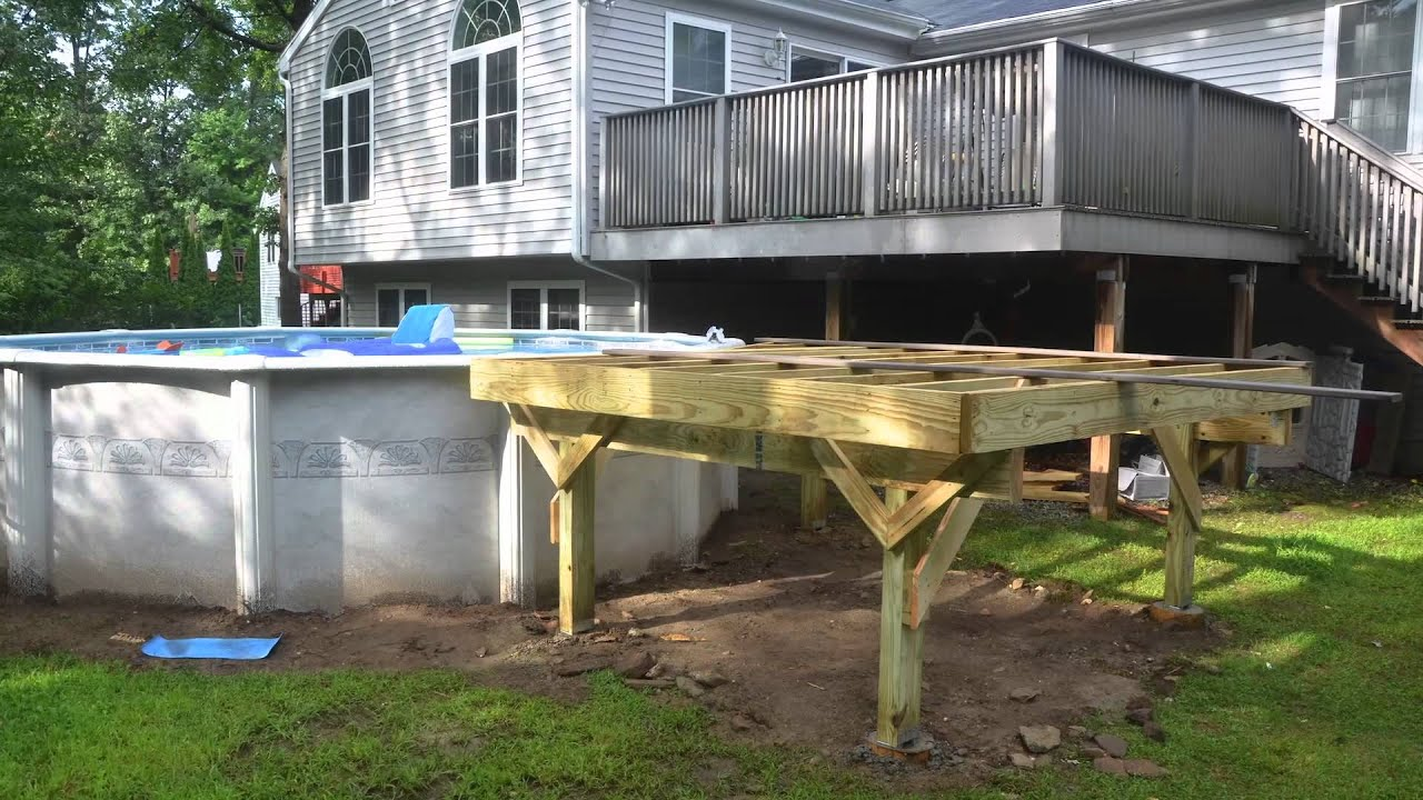 Deck build youtube - How to build an above ground swimming pool ...