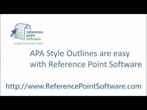 Apa Style Outlines - Youtube