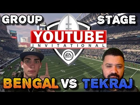 TeKRaJ vs. Bengal | Group Stage | Madden YouTuber Invitational | Madden 17 Draft Champions
