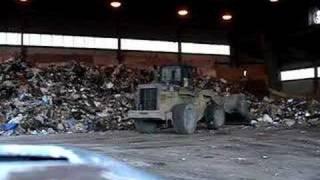 Heavy Equipment. Loader at Transfer Station.