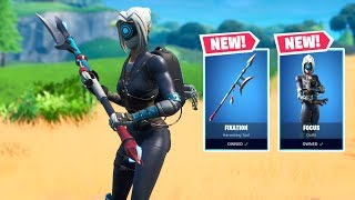 NEW FORTNITE *FOCUS* SKIN IN GAME PLAY (& FIXATION AXE FULL SET)