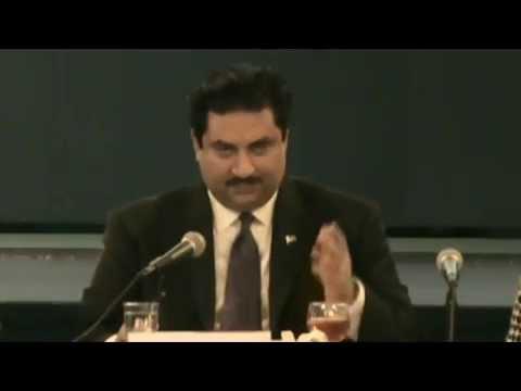 Federal Minister for Commerce Engr  Khurram Dastgir Khan speaking at luncheon event of the US Pakist