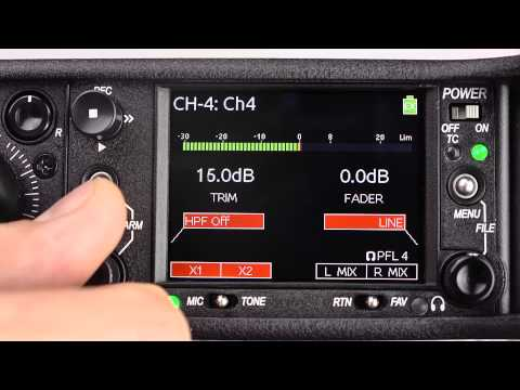 Sound Devices 633 - Inputs and Outputs Overview