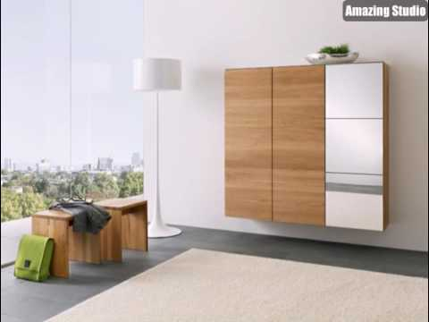interior design ideen flurm bel aus holz schrank und sitzbank youtube. Black Bedroom Furniture Sets. Home Design Ideas