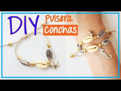 1cb859c5bf63 Pulsera de Moda con Conchas | Tutorial - YouTube